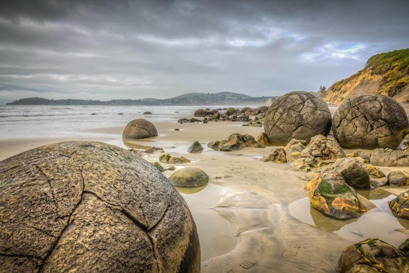 Moeraki Boulders, Koekohe Beach – Nuova Zelanda