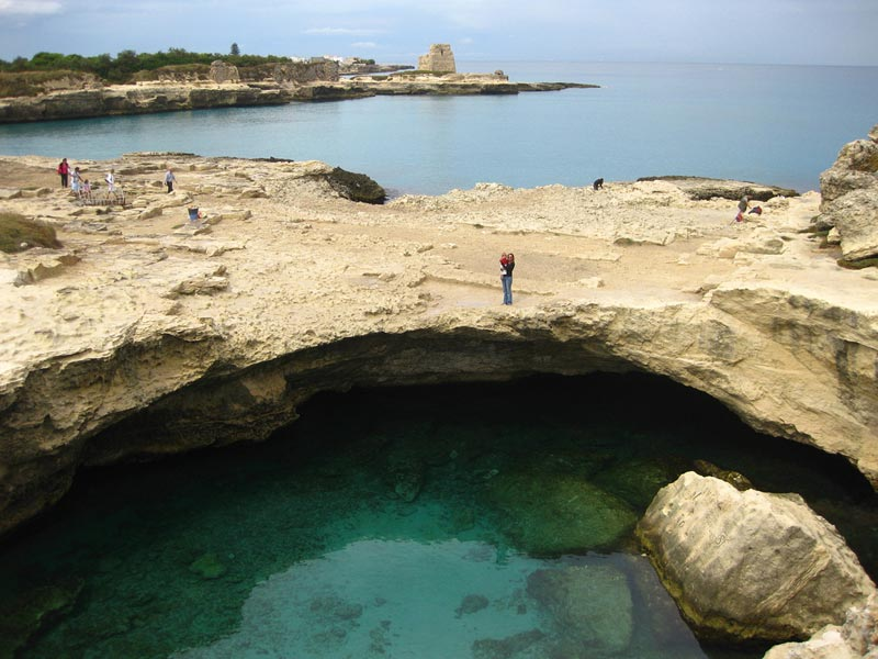 La piscina naturale di roca vecchia nel salento uno - Piscina naturale ...